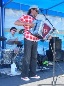 Accordion player & band leader Theo Bellow & Drummer Pat Kingland, Theo & Zydeco Patrol