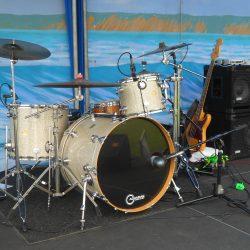 Rhythm Section at rest, Bastard Sons of Johnny Cash, Photo by Edward A. Sanchez